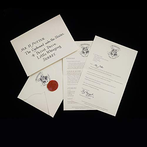 FSYG 13 Pollici Lord Voldemort Wand Wand Hermione Granger Wand con la Lettera di ammissione di Hogwarts con Original OlliVanders Bacchetta,Hogwarts Admission Letter