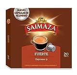 Saimaza Café Espresso Fuerte Intensidad 9 - 20 Cápsulas de café de aluminio compatibles con Nespresso