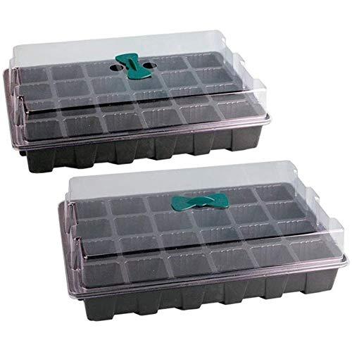 ADHW Kreativität 2 Pcs Hydroponik Set 24 Zimmergewächshaus mit Automatischer Bewässerung für die Anzucht Zimmer Treibhaus Gartenbedarf