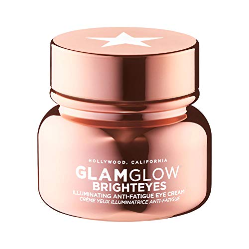 Glamglow Brighteyes Illuminating Anti-Fatigue Eye Cream 0.5 Oz! Formulated with Caffeine, Hyaluronic Acid And Peptides! Brightens Dark Circles And Reduce Fine Lines & Wrinkles!