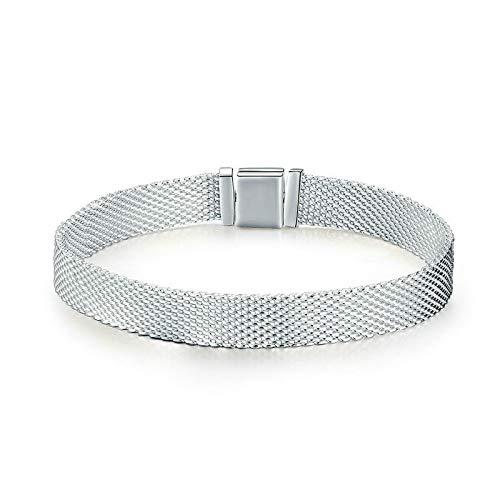 Strand Armbänder 925 Sterling Silber Metropolitan Style Damenmode Armbänder Schmuck Geschenk 19cm