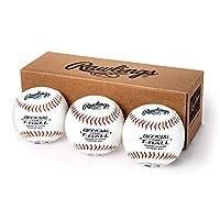 Rawlings (ローリングス) ユース ティーボール 練習用野球ボール ティーボール3個入りボックス TVBBOX3 ホワイト 公式サイズ