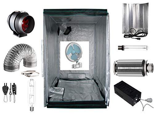 Growbox Komplettset 60 x 60 x 180 cm 250 Watt inkl. Filter Lüfter Zelt HPS/NDL/LED