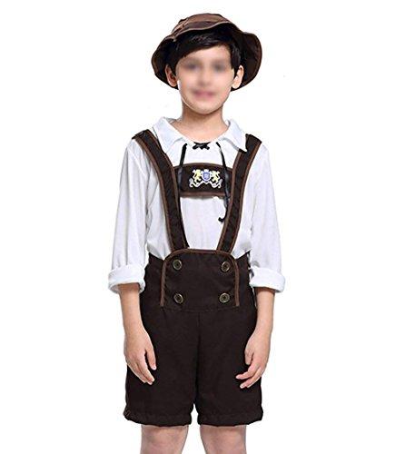 KeySmart Kinder Kostüm Tracht für Jungs Größe: 140