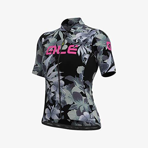 Alé Cycling Solid Bouquet Kurzarm Trikot Damen Black Größe S 2021 Radtrikot kurzärmlig