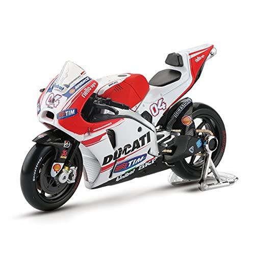 MHDTN El Maquetas Coche Motocross Fantastico 1:18 para Ducati Desmosedici n. ° 4 simulación Carreras Modelo aleación colección Motocicletas decoración Regalo Coche Juguete Regalos Juegos Mas Vendidos