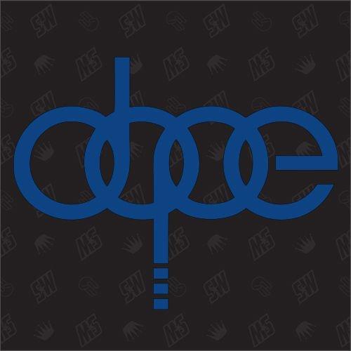 speedwerk-motorwear Dope - Ringe Sticker, kompatibel mit Audi