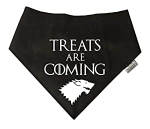 Spoilt Rotten Pets Game of Thrones Bandana pour Chien Motif Treats are Coming Winter is Coming Stark