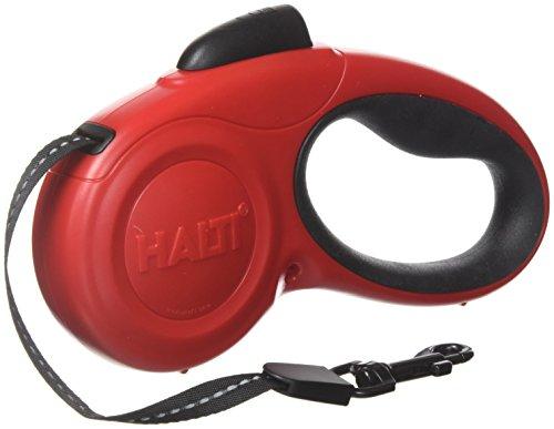 Halti Retractable Tape Lead Laisse à Enrouleur avec Bande Réfléchissante/Poignée Gel Ergonomique pour Chien Rouge Taille S