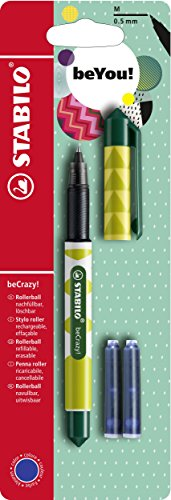 Tintenroller - STABILO beCrazy! FRUITS - Ananas - Einzelstift - inklusive 3 Patronen