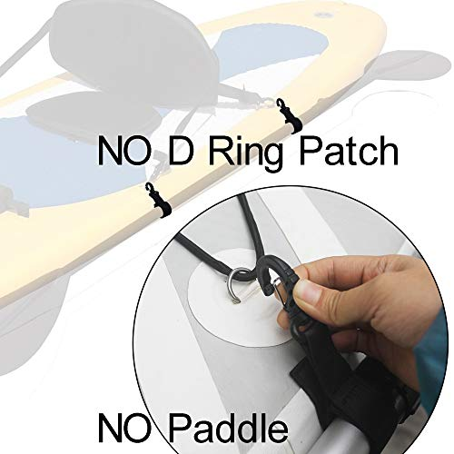 YYST SUP Paddleboard Inflatable Boat Paddle Keeper Paddle Holder Paddle Clip,Set of 4. No D Ring Patch !