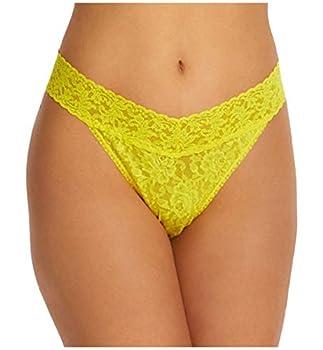 Hanky Panky Signature Lace Original Rise Thong  4811P ,One Size,Zest Yellow