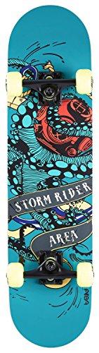 AREA Unisex Jugend Skateboard Storm Rider, Mehrfarbig, 31