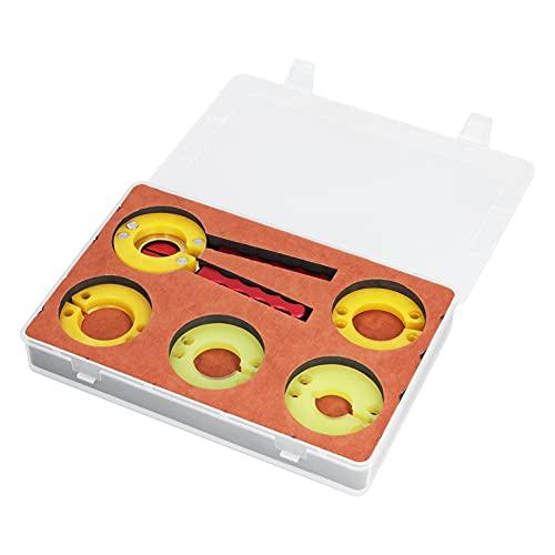 Bisel de reloj, juego de herramientas de extracción de alicates abridor de removedor de bisel de reloj con 4 moldes de repuesto para reparación