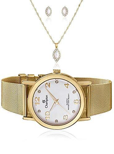 Relógio Champion Analógico Feminino CN29034W + Semijóia