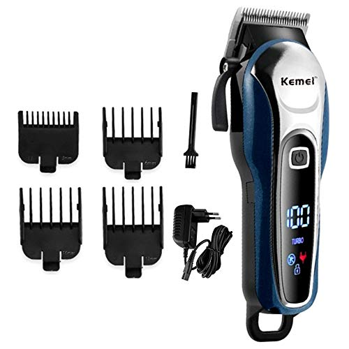 Kemei mens clipper cordless Hair Clippers, Razor Electric Professional Shaver Beard Trimmer Grooming Shaving Machine Self Hair Cutting Haircut Trimmers Cutter