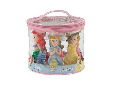 Disney Theme Parks Exclusive Princess Bath Tub Pool Squeeze Toys 5 Pc. Set Belle Ariel Cinderella Aurora Snow White