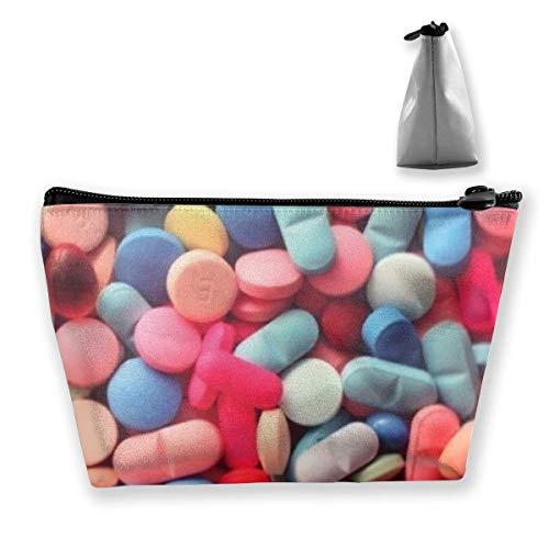 Pills Trapezoid Travel Cosmetic Storage Pouch Pochette