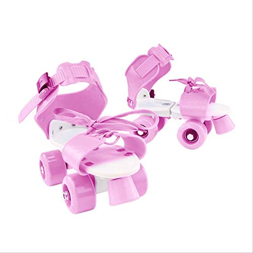 STBB Rollschuhe Mädchen Junge Verstellbare Roller Geschenk Tragen Resistent Abs Outdoor Skate Schuhe Non Slip Vierrad Kinder Tragbare Kinder Behoben Rosa