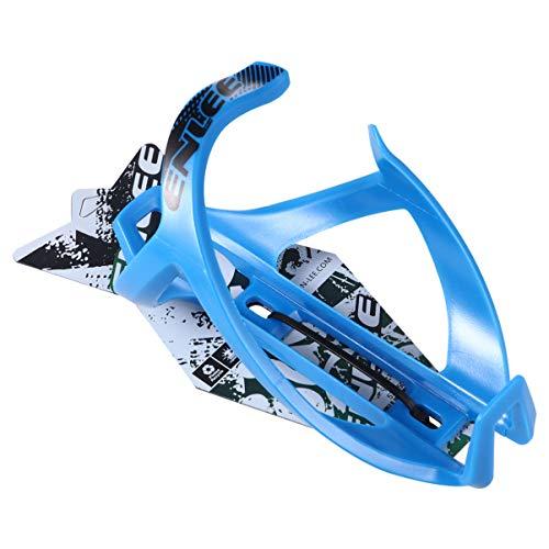 BESPORTBLE Soporte de la Taza de Bicicletas TPR Plástico Ultra Luz Práctica Tough Water Cup Soporte Accesorios de Paseo en Bicicleta (Azul)