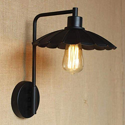 Dmygo Lámparas Pared Curvada Brazo Negro LED Creativa