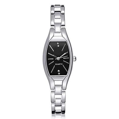 HZBIOK Uhren Damen Markenmode Uhr Frauen Quarzuhr Frauen Marke Gold Stahl Armbanduhr Quarz Charme Mode DamenuhrenB