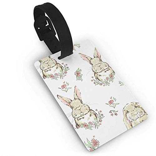 Luggage Tag Bull Animal Snow Winter Turtle Pixar Travel ID Label Leather for Baggage Suitcase Size 3.7 x 2.2 Inches Style6582