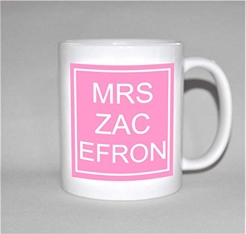 Mrs Zac Efron Taza Regalo para su Taza Regalo de cumpleaños para su 18 cumpleaños Regalo High School Musical Regalo Zac Efron Regalo versión Rosa