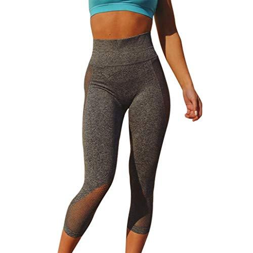 Tummy yogabroek voor dames, hoge controle, chic taille, fitnessbroek, ondoorzichtig, leggings, tights net garen, joggingbroek, zeven punten