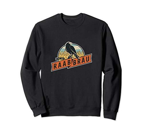 Raab Bräu Logo Rabe Classic Design Brauerei Bier Sweatshirt