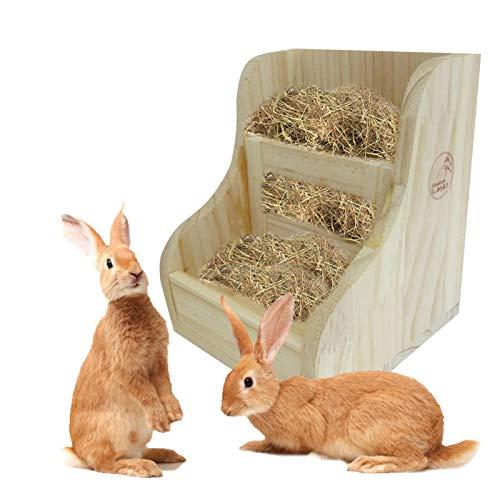 Aional 2 In 1 Kaninchen Raufe Futterautomat, Kaninchen Zubehör Meerschweinchen-futternapf, Gras Und Futtermittelspender, Mit Nager Trinkflasche, Für Kaninchen, Meerschweinchen, Chinchilla, Hamster