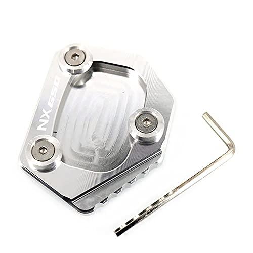 QUXING Motocicleta CNC Soporte Lateral ExtensióN Plataformas Y Soportes Almohadilla, para Honda XLV 600 650 700 TRANSALP/Dominator NX 650 FMX 650 Kickstand Pie Pad con Logo Accesorio
