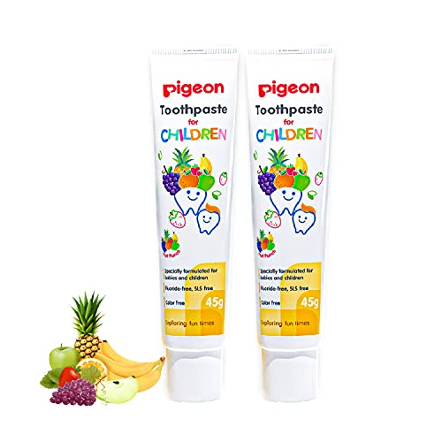 Pigeon Children Toothpaste, Fruit Punch (45g, Pack of 2)