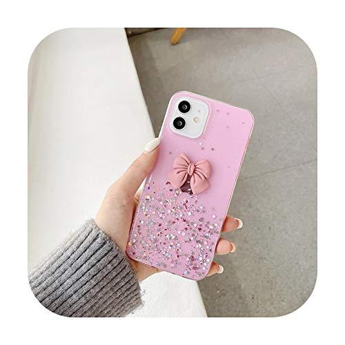 Para Huawei Y7A Y5P Y6P Y7P Y8P Y8S Y9S caso lindo caramelo Color Bowknot suave TPU cubierta para Huawei Y5 Y6 Y7 Y9 Prime 2019 Teléfono Case-AW2-Rosa-para Huawei Y8P