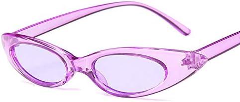 RJGOPL des lunettes de soleil Leonlion oeil de chat vintage oculos de sol feminino classique marque designer petit quadro cateyes oculos de sol feminino ovale uv400 Purple-purple