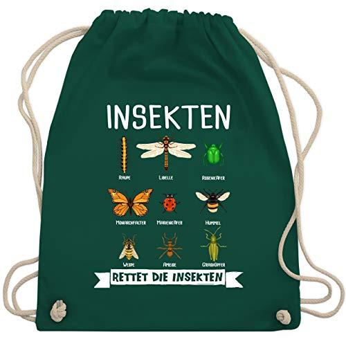 Sonstige Tiere - Rettet die Insekten - Unisize - Dunkelgrün - insekten shirt - WM110 - Turnbeutel und Stoffbeutel aus Baumwolle