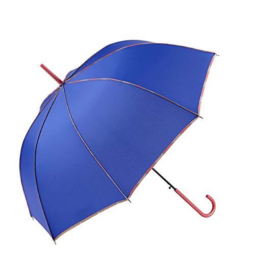 GOTTA Paraguas Largo de Mujer. Antiviento y automático, con Forma cúpula. Vivo Estampado y Tejido Liso - Azul