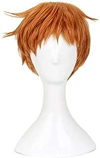 Xingwang Queen Anime Cosplay Wig Short Brown Gold Wig Men Boys' Party Wigs