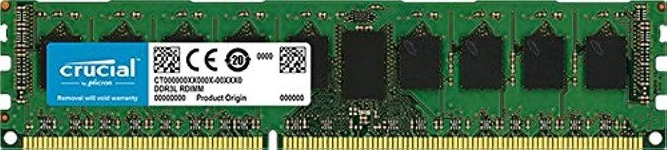 Crucial 4GB Single DDR3/DDR3L 1600 MT/s (PC3-12800) ECC UDIMM 240-Pin Memory - CT51272BD160BJ