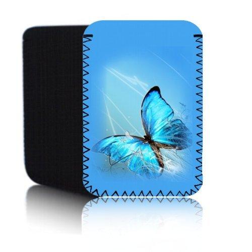 'Biz-E-Bee Pretty Butterfly 7' Neopren Tasche für ASUS Fonepad ME372CG 17,8cm Tablet Tasche–Stoßfest/wasserabweisend Neopren Abdeckung, Hülle, Tasche,–UK