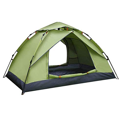 WGYDREAM Camping Tent 2 Person Large Space, Waterproof For Outdoor Camping Car Travel With Zippered (Color : A)