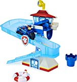 Paw Patrol, Adventure Bay Bath Playset with Light-up Chase Vehicle, Bath Toy for Kids Aged 3 and up