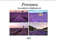 Provence, Lavendelzeit in Suedfrankreich (Wandkalender 2022 DIN A2 quer): Im Juli jeden Jahres verwandelt sich die Provence in ein lila Bluetenmeer von duftenden Lavendel. (Monatskalender, 14 Seiten )
