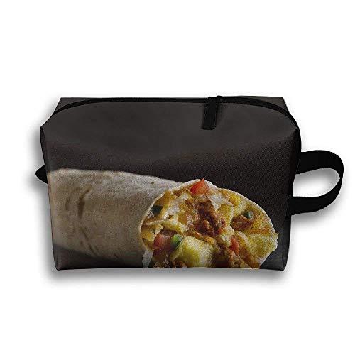 Burrito-tragbare Reise-Make-uptasche, Aufbewahrungstasche-tragbare Damen-Reise-Quadrat-Kosmetiktasche