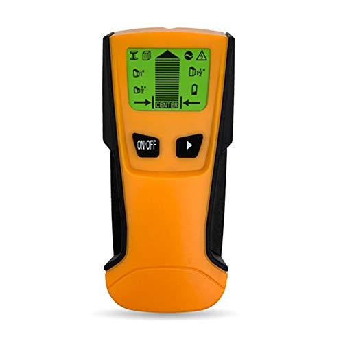 FASTTOBUY Leitungssucher Ortungsgerät,5-in-1 Multifunktions Wand Scanner Detektor mit LCD-Anzeige und Audioalarm, für Stromleitung, Metall,Bolzenerkennung