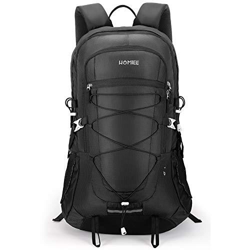 HOMIEE 45L Waterproof Lightweight Hiking Backpack Outdoor Travel Camping Climbing Daypacks for Men Women,Black