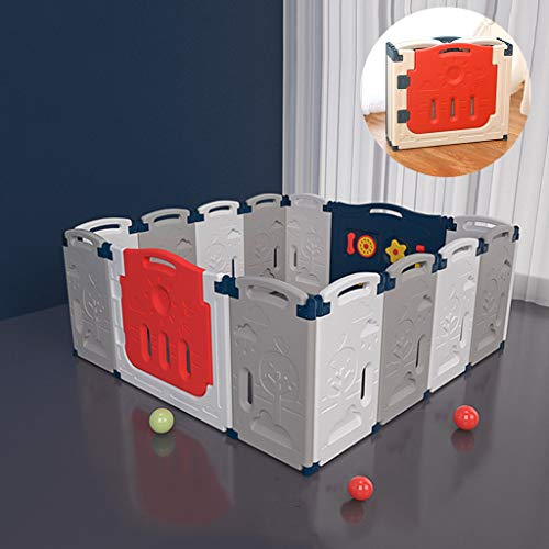 Fantastic Deal! DJCALA 14 Panel Foldable Baby Playpen, Fence Safety Yard Toddlers Activity Center, L...