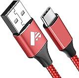 Cable USB Tipo C, Aioneus [2m/6.6ft]3A Cargador Tipo C Nylon Carga Rápida y Sincronización Cable USB C para Samsung S10/S20/S9/S8/A70/Note 10/Note 9, Huawei P30/P20/Mate 20, HTC 10/U11,Sony Xperia