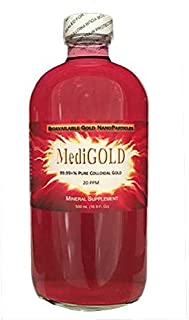 MediGOLD (20 ppm True Colloidal Gold) - 500 mL Glass