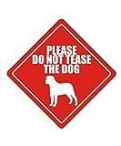 """BRILLON Metallschild mit Aufschrift """"Please do not Tease The Dog"""""""